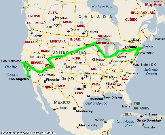 1999 coast to coast in harley from new york to los angeles for New york city to los angeles